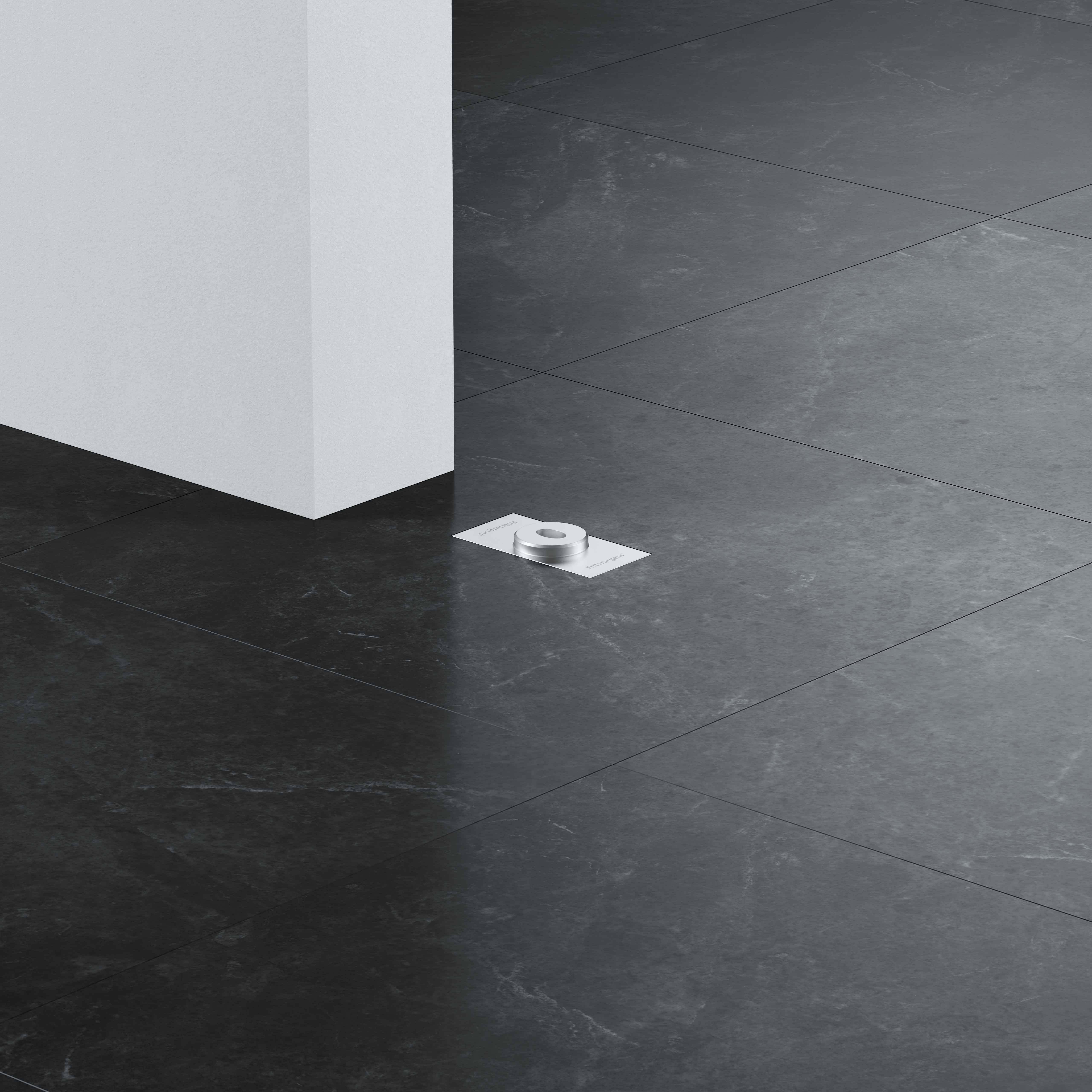 Floor plate flush square 1