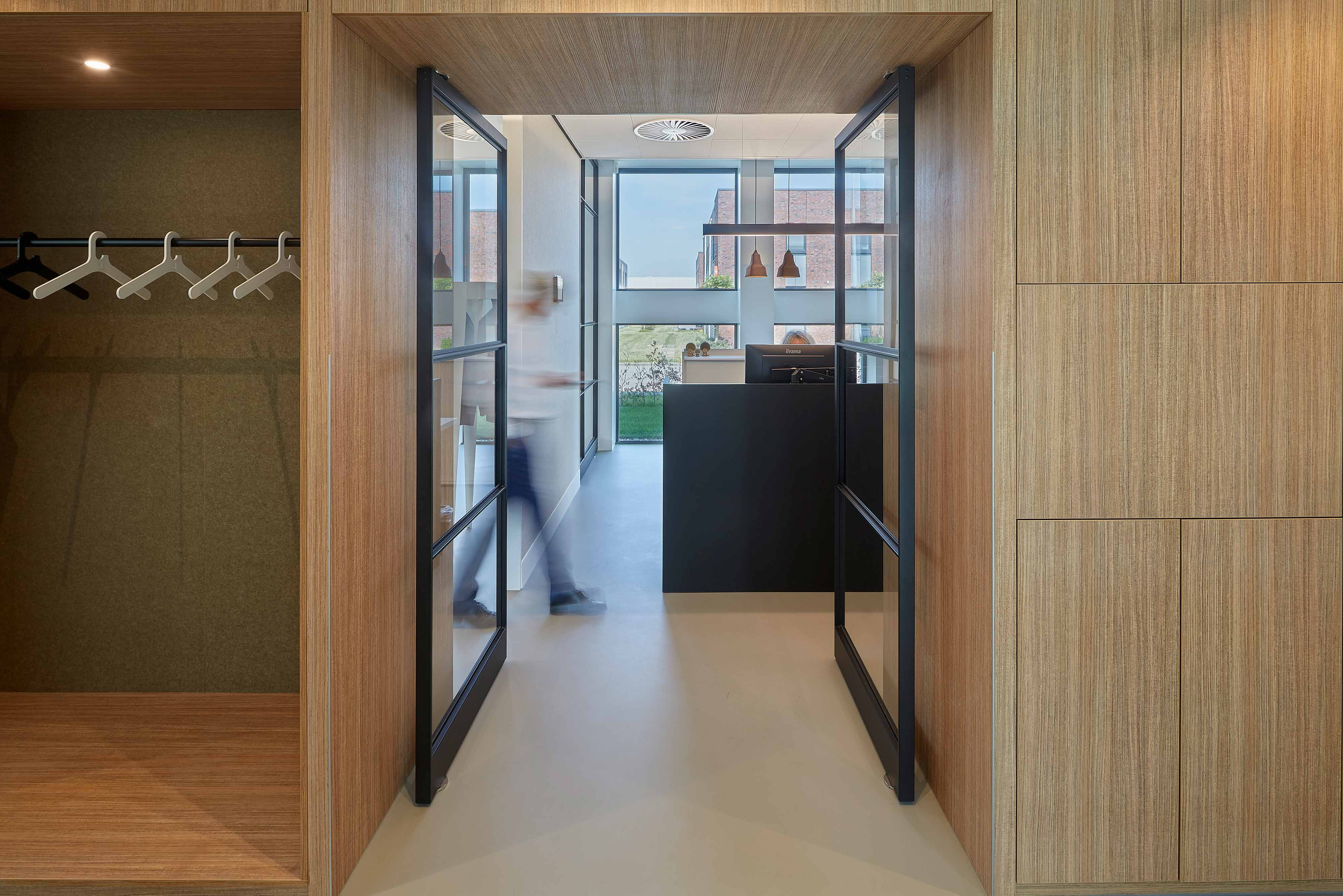 Multiple pivot doors designed by Team4 Architecten and BuroBulder, all with pivot hinge System M by FritsJurgens